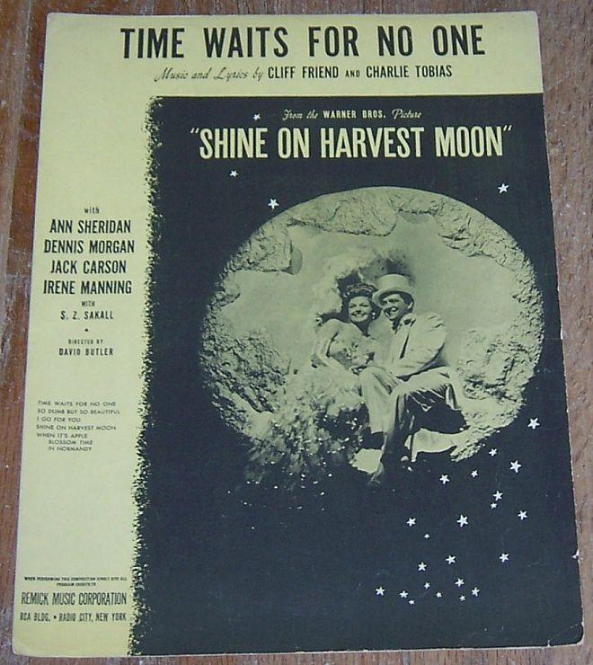 Time Waits for No One Ann Sheridan 1944 Sheet Music