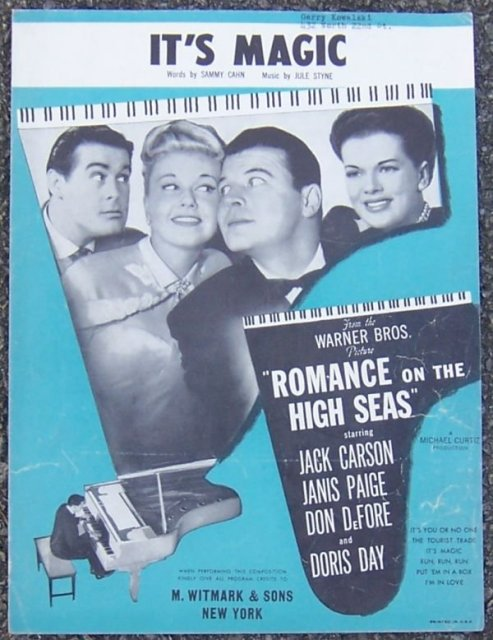 It's Magic From Romance on the High Seas with Doris Day 1948 Sheet Music
