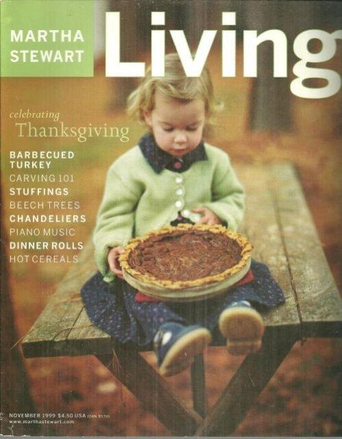 Martha Stewart Living November 1999 Celebrating Thanksgiving on Cover