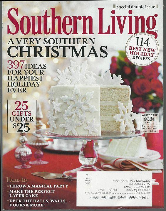 Southern Living Magazine December 2012 A Very Southern Christmas/Cakes/Gifts