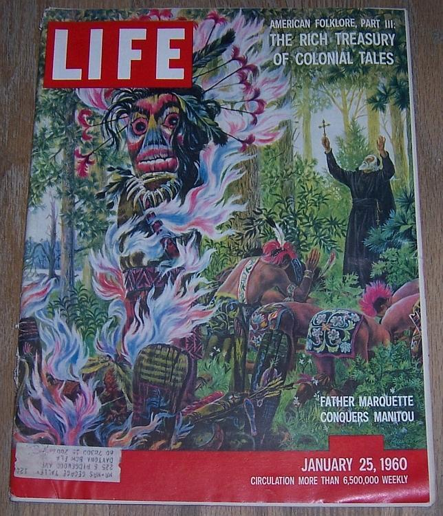 Life Magazine January 25, 1960 Father Marquette Cover, Folk Tales, Oscar Roberts