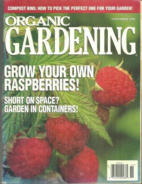 Organic Gardening Magazine November 1996 Raspberries on the Cover