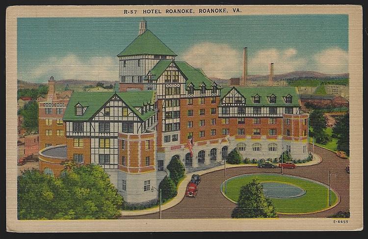 An Old English Inn Hotel Roanoke, Roanoke, Virginia Vintage Unused Postcard