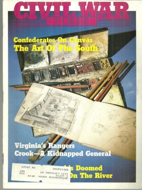 Civil War Times Magazine December 1983 Confederate Artists and Their Work