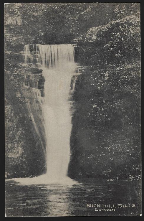 Buck Hill Falls. Lower, Pennsylvania Pocono Mountains Vintage Unused Postcard