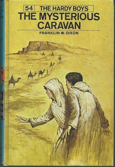 Mysterious Caravan by Franklin Dixon Hardy Boys #54 1975 Blue Matte Cover