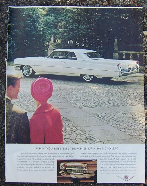 1964 Cadillac Saturday Evening Post Magazine Advertisement