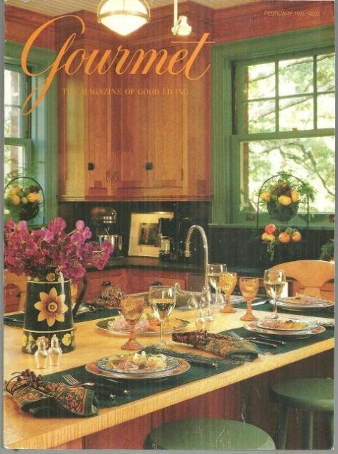 Gourmet Magazine February 1995 Italian Inspired Supper on the Cover