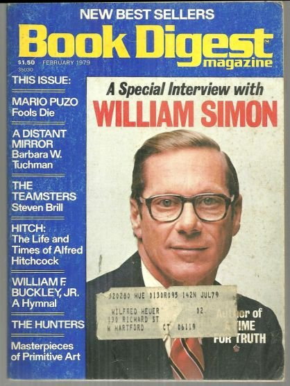 Book Digest Magazine February 1979 Special Interview with William Simon on Cover