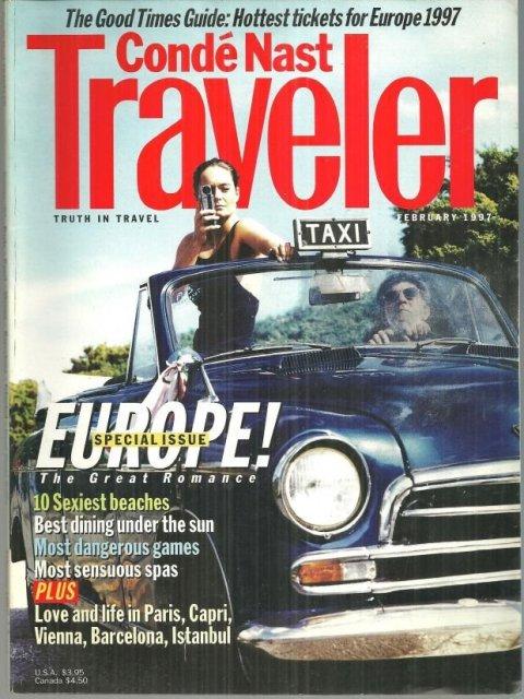 Conde Nast Traveler Magazine February 1997 Special Issue Europe