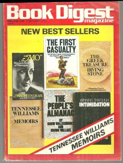 Book Digest Magazine February 1976 New Bestsellers on Cover