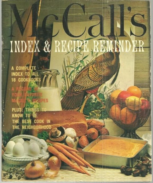 McCalls Index and Recipe Reminder A Complete Index to All 18 Cookbooks 1965