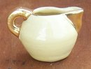 Vintage Miniature Pitcher Yellow Glaze with Gold Top