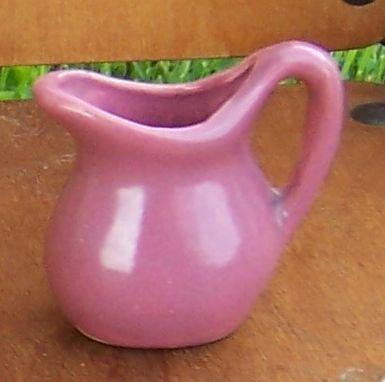 Vintage Miniature Matte Glaze Mauve Pitcher