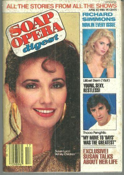 Soap Opera Digest Magazine April 27, 1982 Susan Lucci All My Children on Cover