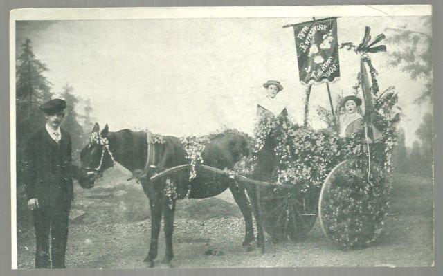 Victorian Postcard of Children in a Flower Cart Demander le Cacao Solubilse