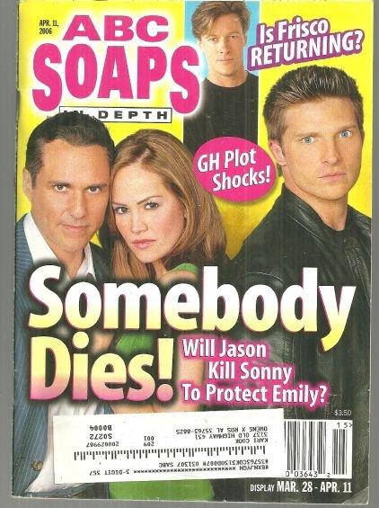 ABC Soaps in Depth Magazine April 11, 2006 General Hospital Somebody Dies Cover