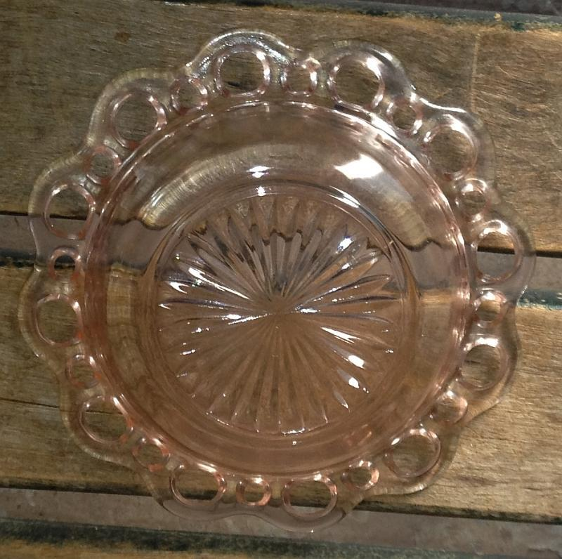 Pink Depression Glass Old Colony/Open Lace Cereal Bowl Anchor Hocking