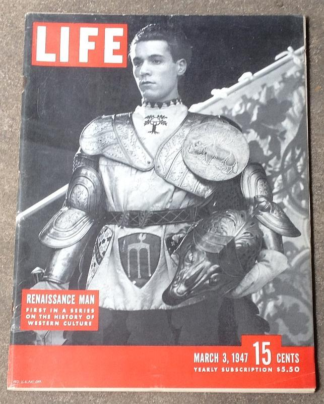 Life Magazine March 3, 1947 Renaissance Man Cover Ice Skating Suits Cranes