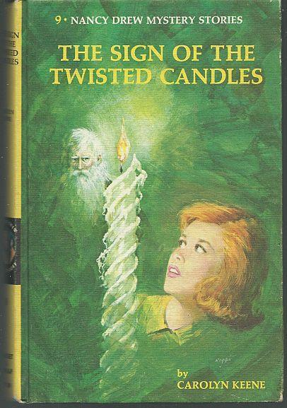 Sign of the Twisted Candles by Carolyn Keene Nancy Drew #9 1968 Matte Yellow