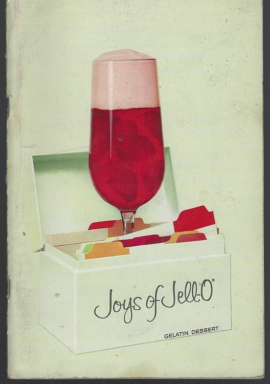 Joys of Jell-O Gelatin Dessert Recipe Book Vintage Illustrated Cookbook