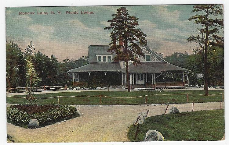 Picnic Lodge, Mohonk Lake, New York Vintage Unused Postcard