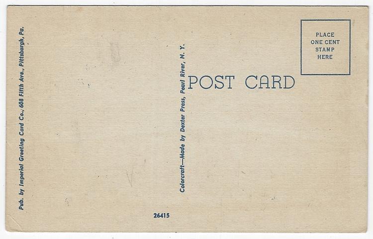 United States Post Office, Beaver Falls, Pennsylvania Vintage Unused Postcard
