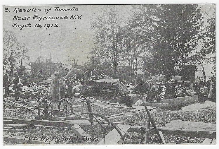 Results of Tornado Near Syracuse, New York, September 15, 1912 Unused Postcard