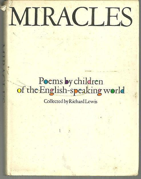 Miracles Poems By Children Edited by Richard Lewis 1966