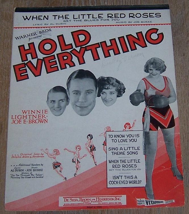 When the Little Red Roses Get Blues for You Winnie Lightner Movie Sheet Music