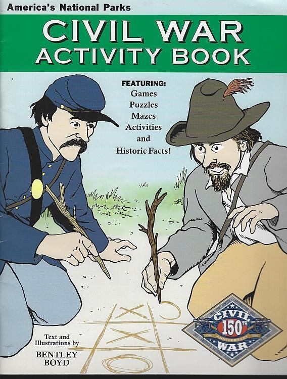 Civil War Activity Book America's National Parks by Bentley Boyd 2012 Unused