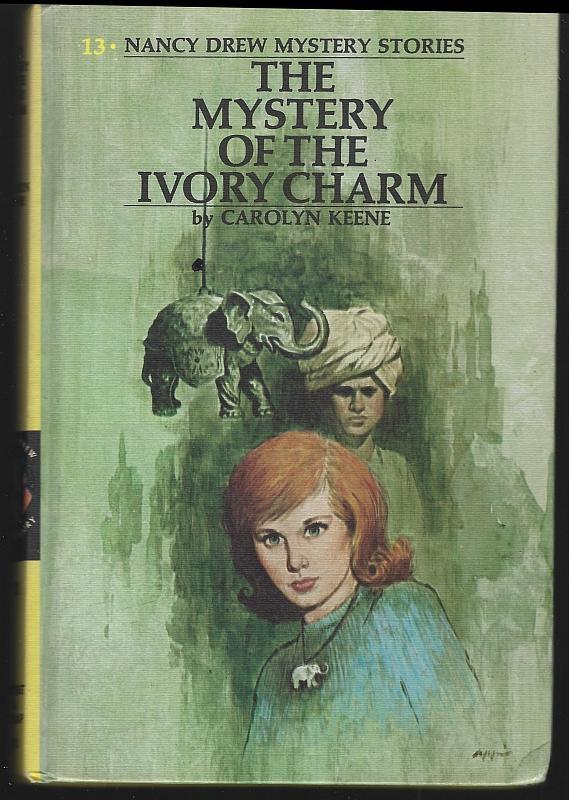 Mystery of the Ivory Charm by Carolyn Keene Nancy Drew #13 Matte Yellow 1974