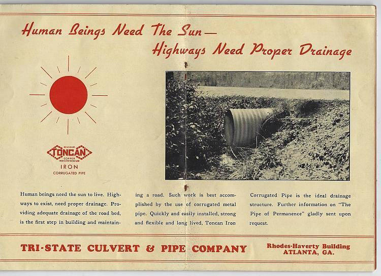 Highways of Happiness July 1937 Tri-State Culvert and Pipe Co Atlanta Georgia