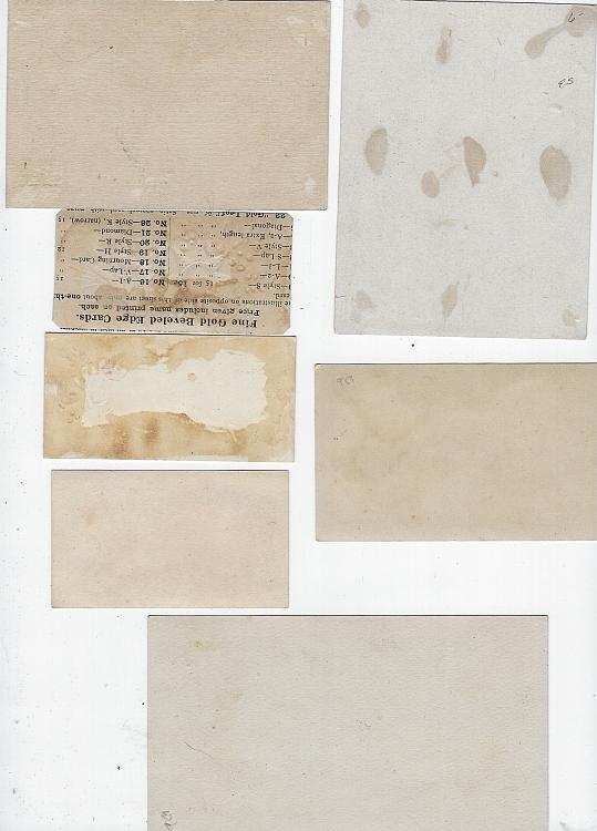Lot of Seven Scrap Victorian Trade Cards Flowers Scrapbooking Paper Crafts