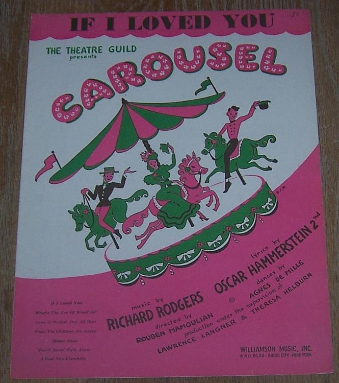 If I Loved You From Broadway Musical Carousel 1945 Theater Sheet Music