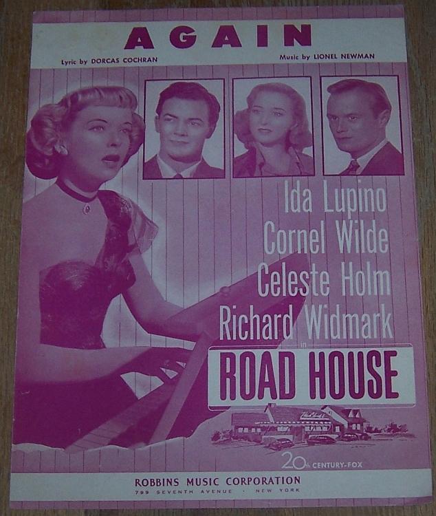 Again Road House Ida Lupino Cornel Wilde Celeste Holm 1948 Movie Sheet Music