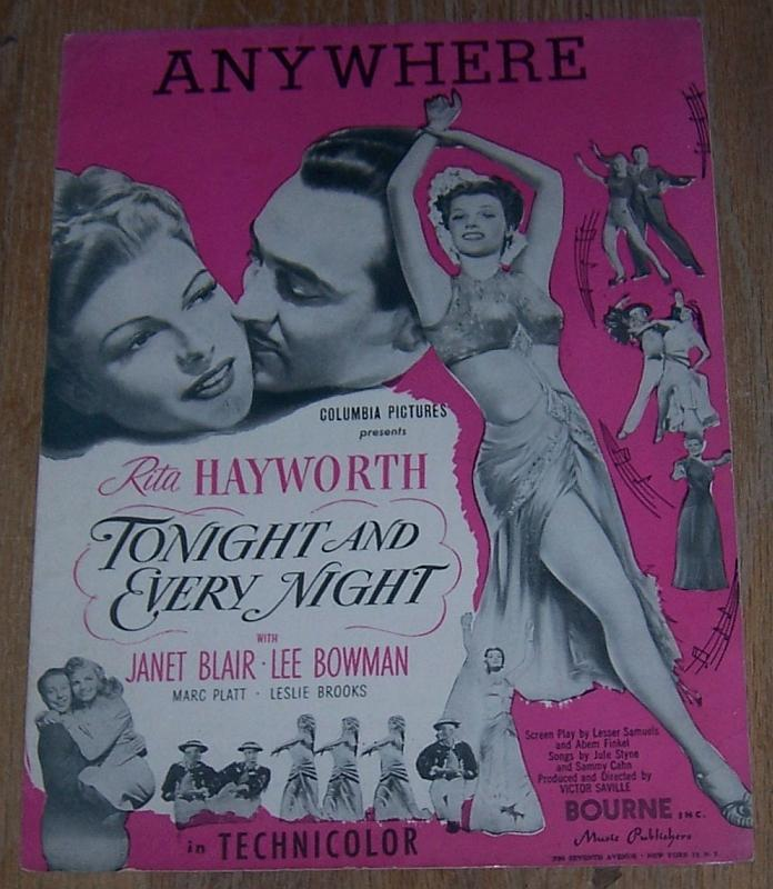 Anywhere Tonight and Every Night Rita Hayworth Janet Blair 1945 Movie Music
