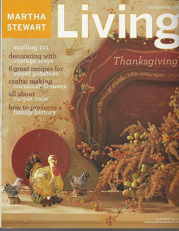 Martha Stewart Living Magazine November 2002 Thanksgiving/Rolling Pins/Trays