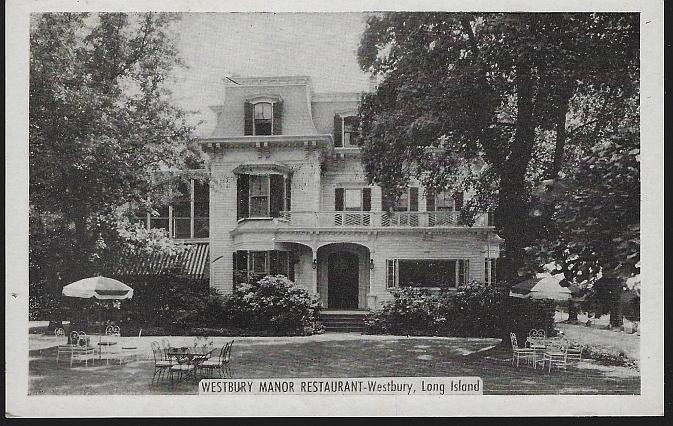 Unused Postcard of Westbury Manor Restaurant, Westbury, Long Island, New York