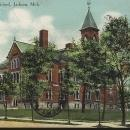 Vintage Postcard of West Side High School, Jackson, Michigan 1903