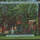 Postcard of Central Park Civil War Mon Wayne County Courthouse Honesdale Pennsylvania