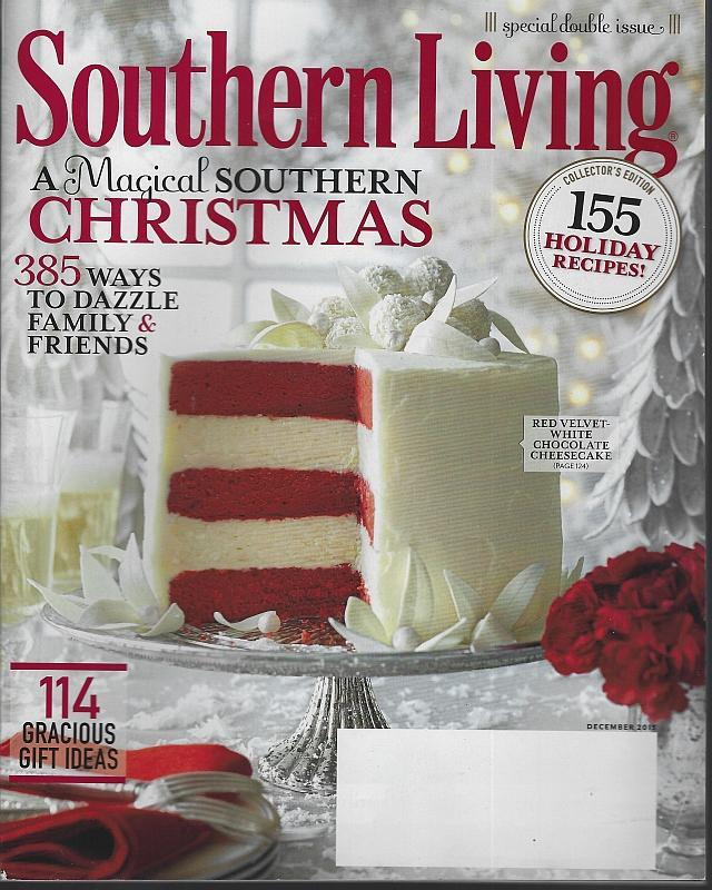 Southern Living Magazine December 2013 Magical Southern Christmas/Wreaths/Cajun