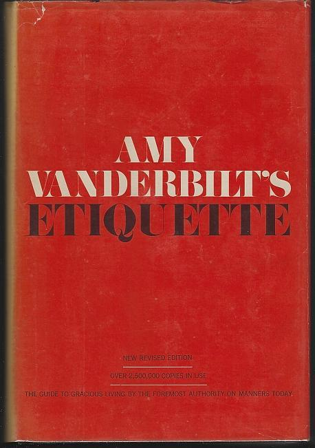 Amy Vanderbilt's Etiquette 1972 with Dust Jacket  Illustrated by Andy Warhol