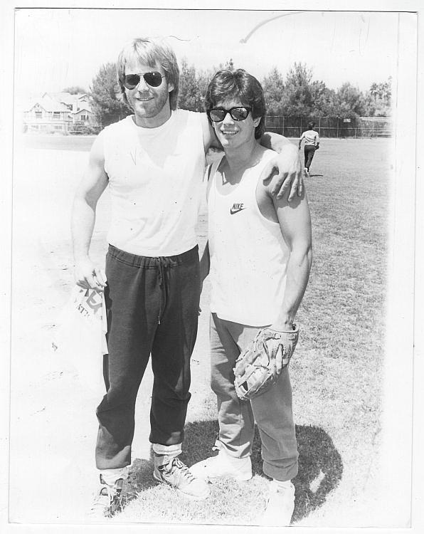 Kin Shriner and Billy Warlock General Hospital Charity Baseball Original Photo
