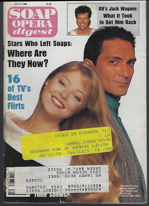 Soap Opera Digest Magazine July 11, 1989 George Jenesky and Charlotte Ross DOOL
