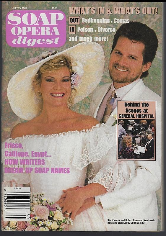 Soap Opera Digest July 25, 1989 Josh and Reva From Guiding Light on Cover