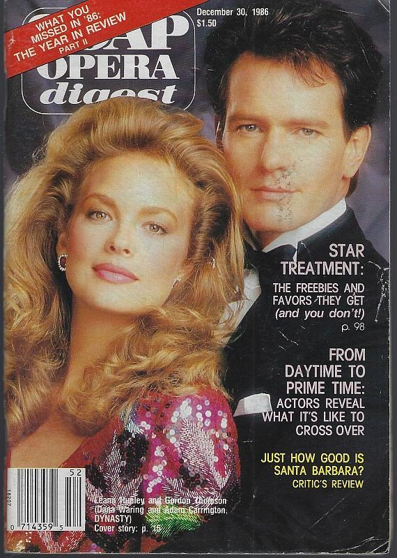 Soap Opera Digest Magazine December 30, 1986 Dynasty Cover/Santa Barbara