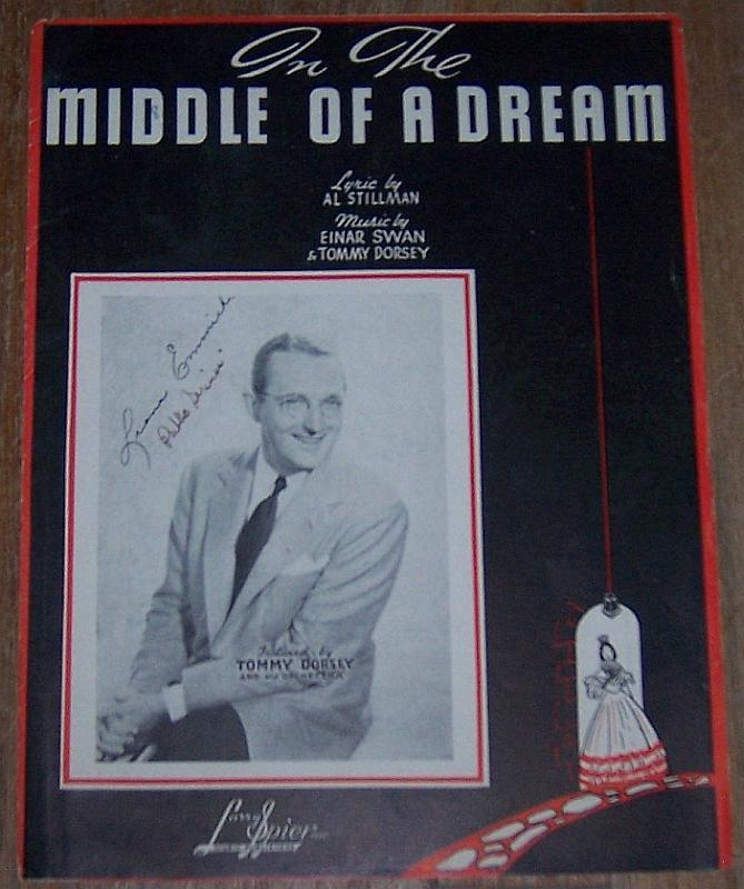 In the Middle of a Dream Featured by Tommy Dorsey 1939 Sheet Music