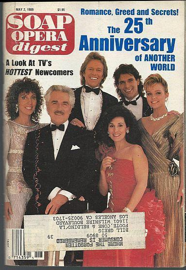 Soap Opera Digest Magazine May 2, 1989 Another World 25th Anniversary Cover