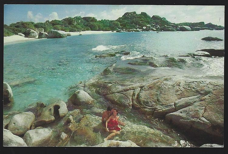 Postcard Spring Bay and the Crawl Little Dix Bay Virgin Gorda British Virgins